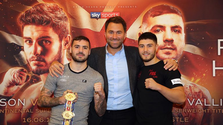 Kelly (right) appears on the same bill as Lewis Ritson, live on Sky Sports