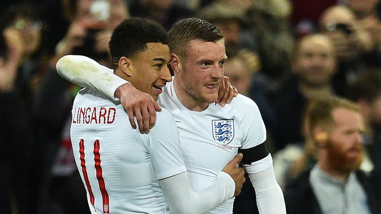 Jesse Lingard and Jamie Vardy are both outsiders to start