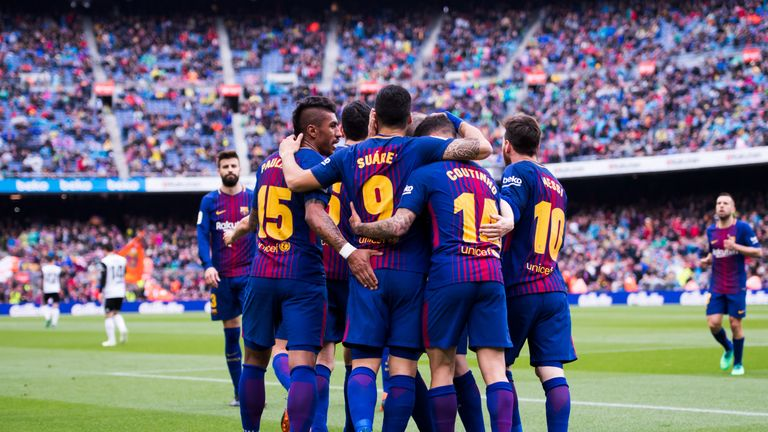 Barcelona saw off Valencia 2-1 on Saturday at the Nou Camp