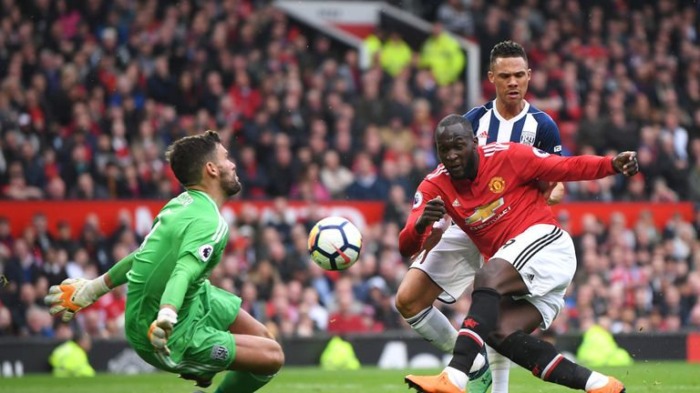 West Brom Goalkeeper Ben Foster Made A Brilliant Save To Deny Manchester United Striker Romelu Lukaku