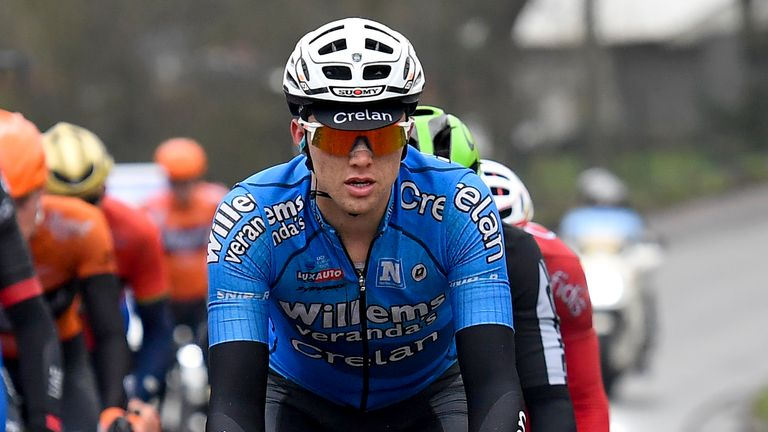 Michael Goolaerts died on Sunday from a heart attack suffered while competing in the Paris-Roubaix