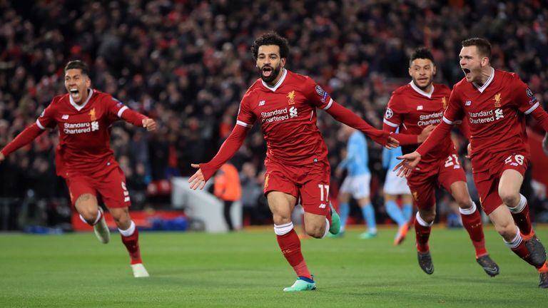 Mohamed Salah moved on to 38 goals this season with Liverpool's opener