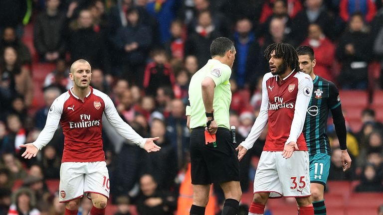 Mohamed Elneny will not serve a suspension for his red card against Southampton