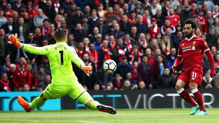 Salah missed a golden chance to break the deadlock