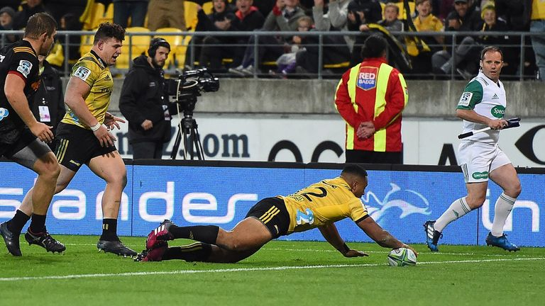 Ngani Laumape went over for one of the Chiefs' three tries