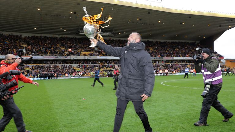 Wolves won the Championship title, nine points ahead of Cardiff