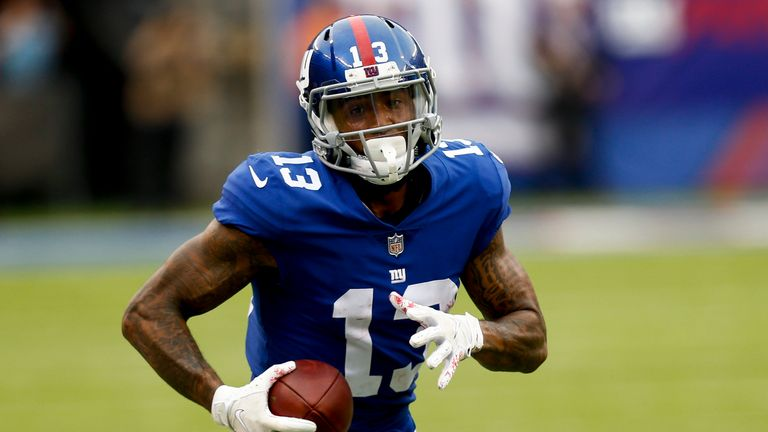 Giants receiver Odell Beckham Jr. reports for OTAs
