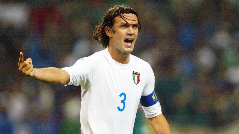 Paolo Maldini won 126 caps for Italy