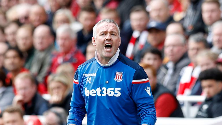 Stoke City manager Paul Lambert was proud of his team's performance