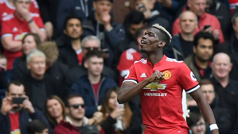 Paul Pogba scored the 2-1 win over Arsenal