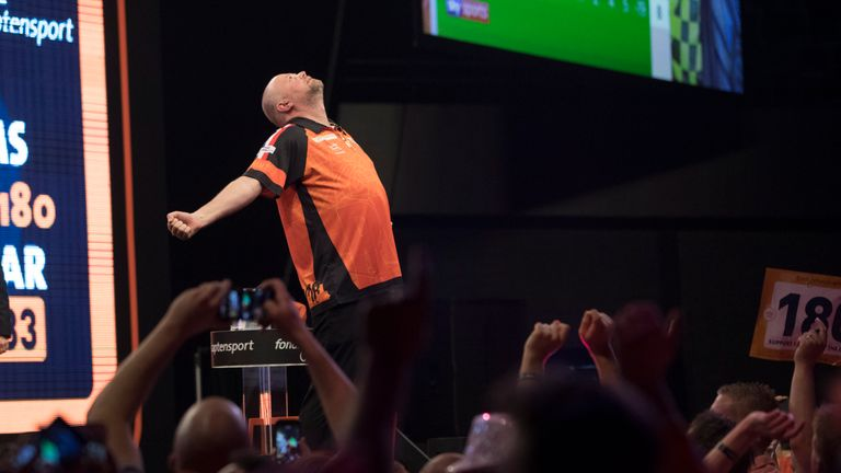 Barney soaks up the welcomes from the Dutch fans in Rotterdam