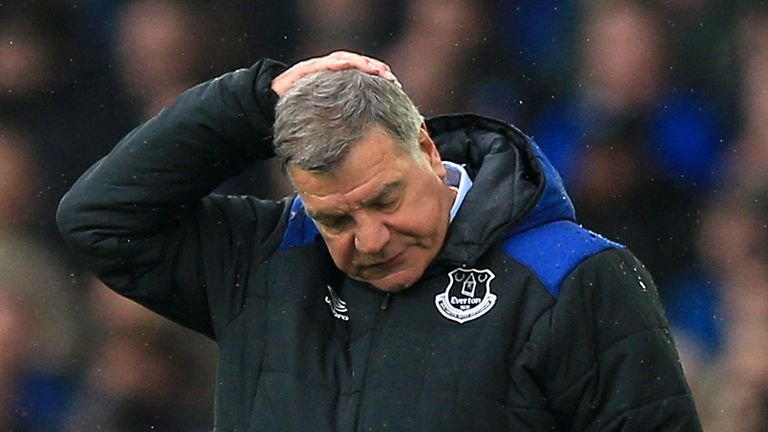 Everton fans were calling for Sam Allardyce to leave on Saturday