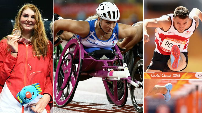Freya Anderson, Samantha Kinghorn and Andrew Pozzi were all on the Gold Coast