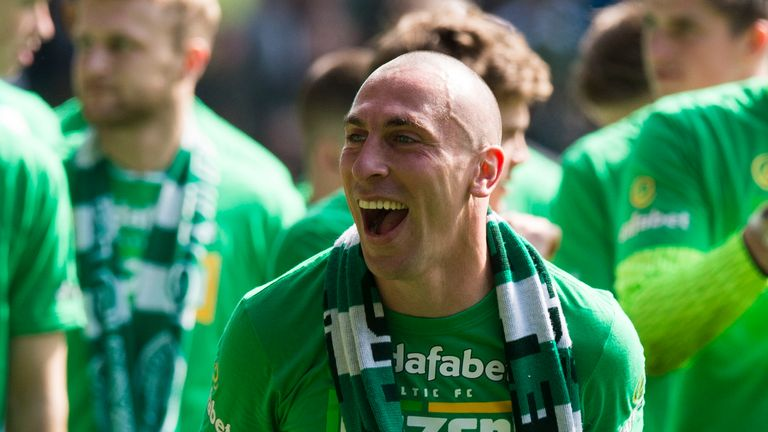 Scott Brown won the PFA Scotland Premiership Player of the Year and the Scottish Football Writers annual award for his performances this season.