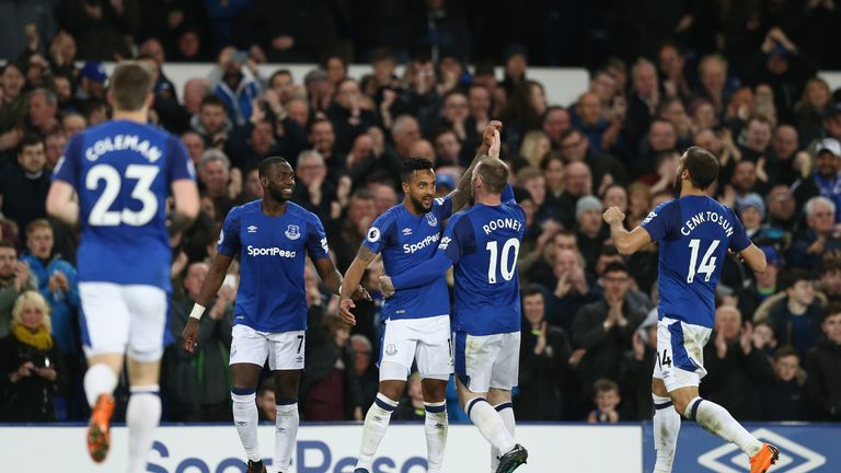 Walcott scored the only goal of the game for Everton against Newcastle