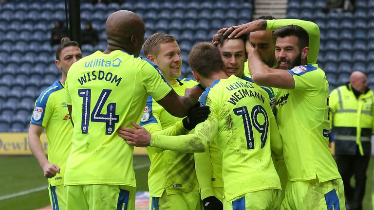 Derby County's won for the first time in nine games against Preston.