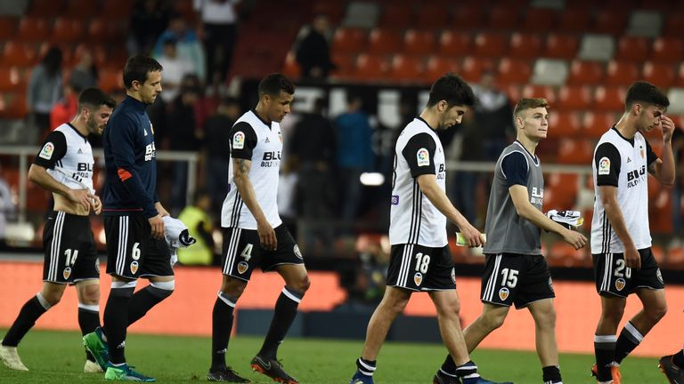 Valencia were beaten at home to fall three points behind Real Madrid