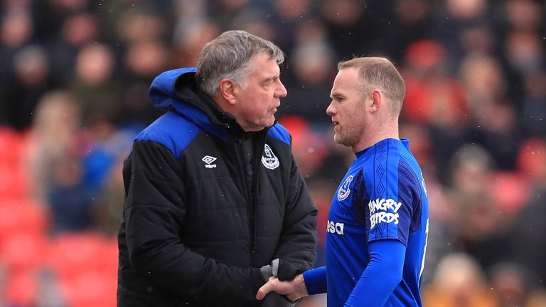 Sam Allardyce says Rooney's future is 'out of his hands' after a meeting