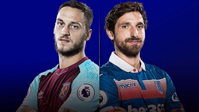 West Ham v Stoke is live on Sky Sports on Monday