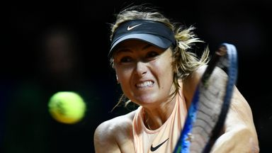 Maria Sharapova suffered an early exit to Caroline Garcia in Stuttgart