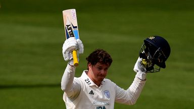Sam Northeast hit his first Hampshire century against Surrey at the Oval