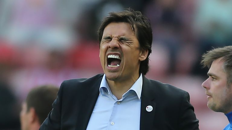 SUNDERLAND, ENGLAND - APRIL 21:  Chris Coleman manager of Sunderland during the Sky Bet Championship match between Sunderland and Burton Albion at Stadium of Light on April 21, 2018 in Sunderland, England. (Photo by Nigel Roddis/Getty Images )
