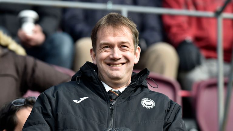 17/03/18 LADBROKES PREMIERSHIP. HEARTS v PARTICK THISTLE (3-0). TYNECASTLE - EDINBURGH. Partick Thistle managing directior Ian Maxwell