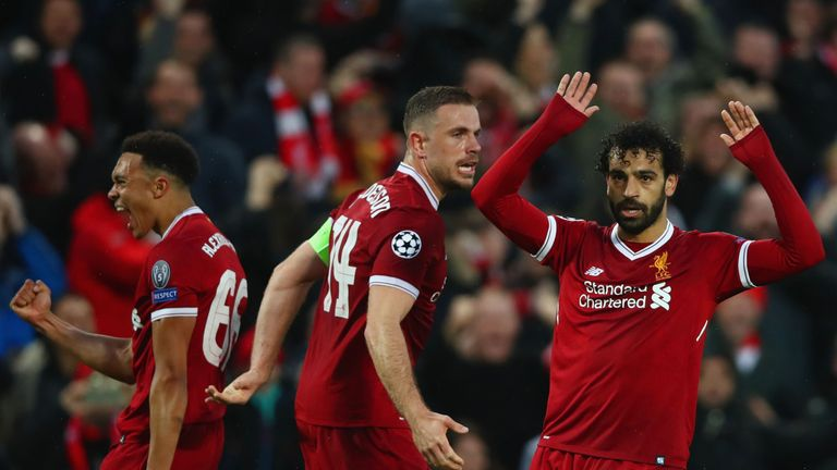 Mo Salah opted against celebrating both his goals for Liverpool against Roma