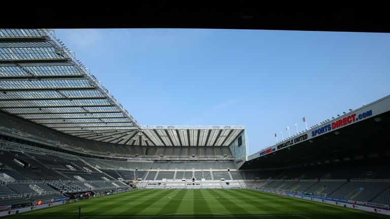 General view inside St James' Park prior to the Premier League match between Newcastle United and Arsenal on April 15, 2018