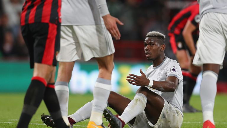 during the Premier League match between AFC Bournemouth and Manchester United at Vitality Stadium on April 18, 2018 in Bournemouth, England.