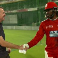 Dominic Cork and Chris Gayle