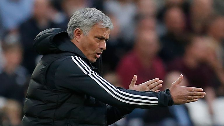 Jose Mourinho issues instructions at London Stadium