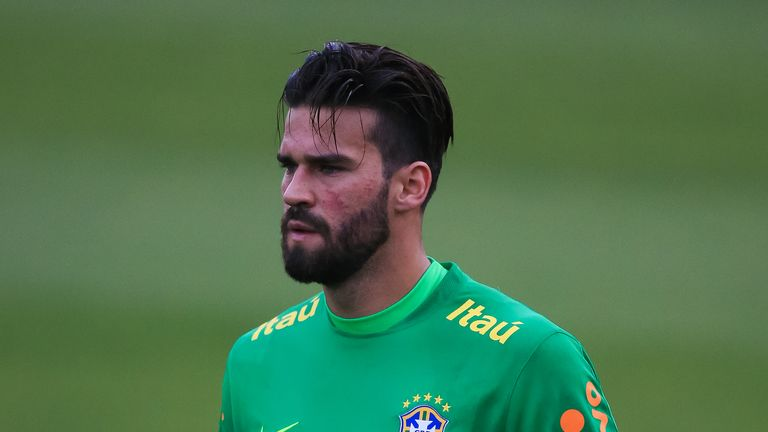 Alisson is expected to start Brazil's World Cup opener against Switzerland