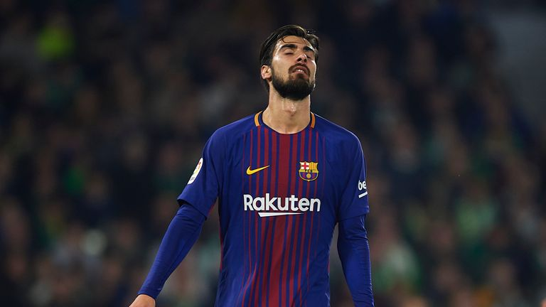 Andre Gomes has endured a frustrating spell at Barcelona after joining the club in a big-money move from Valencia
