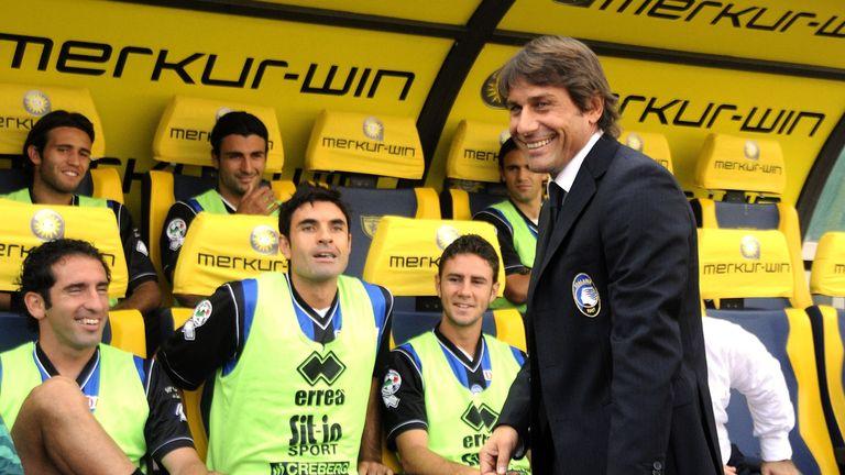 Conte eventually became a Serie A coach with Atalanta in 2009