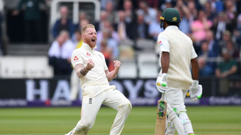 Ben Stokes took three wickets for England on day two