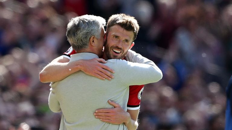 Michael Carrick has become part of Mourinho's coaching staff