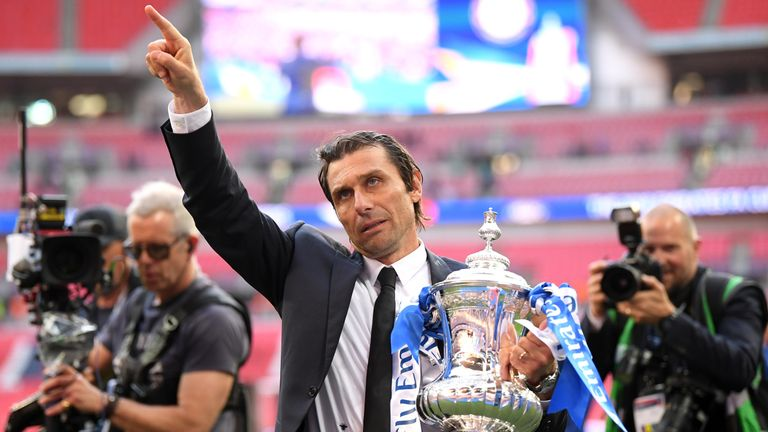 Conte dedicated the Blues' latest FA Cup win to the supporters at Wembley