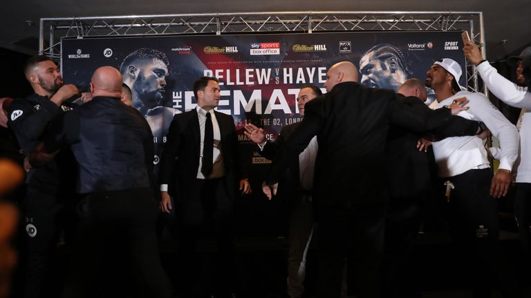 Haye responded but was calmer than last time