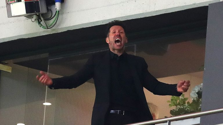 Diego Simeone's appeal against his Europa League final touchline ban has been upheld