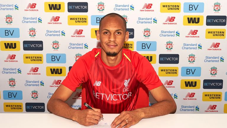 Fabinho has signed a long-term deal with Liverpool