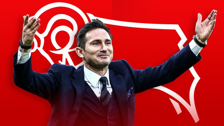 Frank Lampard is the new manager at Derby County