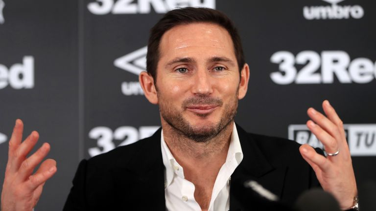 Lampard's first foray into management took him to Derby