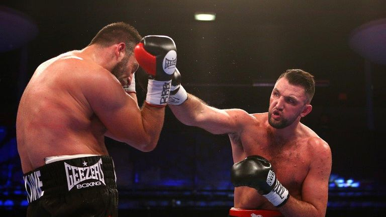 Hughie Fury stopped Sam Sexton in the fifth round with a right hook