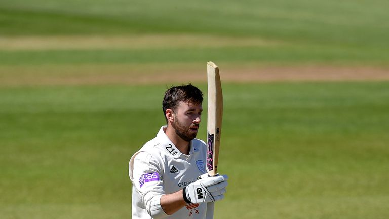 James Vince scored a double hundred for Hampshire in the draw at Somerset