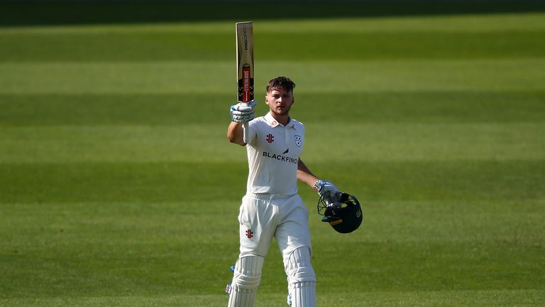 Joe Clarke hit his 11th first-class hundred to help Worcestershire make 238 against Essex