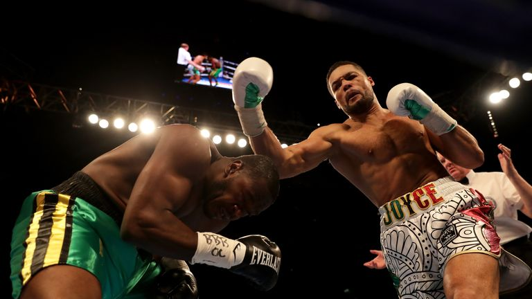 Joe Joyce stopped Lenroy Thomas to claim the Commonwealth title