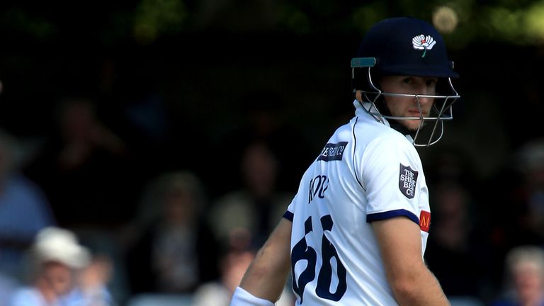 Joe Root lasted just one ball on his County Championship return
