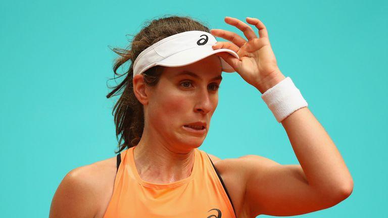 Johanna Konta cruised into the Italian Open third round on Wednesday