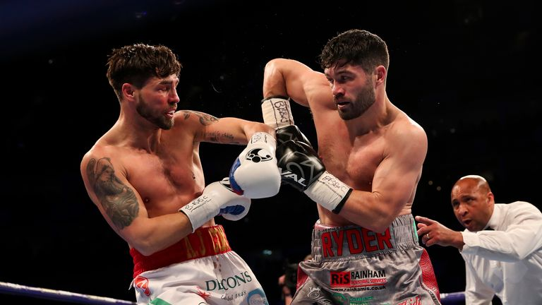 Ryder (right) stunned Jamie Cox on May 5 to continue his impressive run at 168lbs